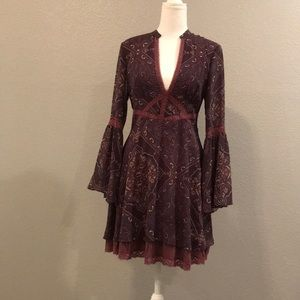 Fit and flare silk dress